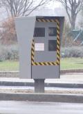 Een flitspaal in Frankrijk